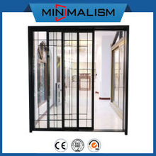 PVDF Coating Aluminum Sliding Door with 2.0mm Aluminum Material for Residential