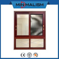 Building Material 90 Series Aluminum Sliding Window with 1.4mm Profile
