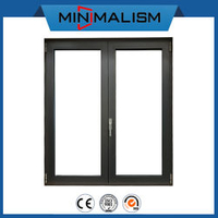 Modern Simple Design Aluminium Casement Window with Low-E Clear Glass