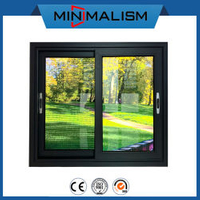 1.4mm Aluminium Sliding Window with Solid Material for Residential Building