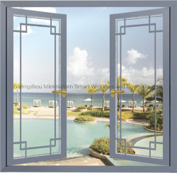 Building Material Aluminum Swing Window with 5mm Double Glazing