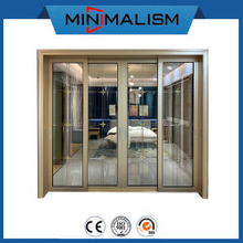 2020 New Design Aluminium Sliding Door with Diamond for Interior